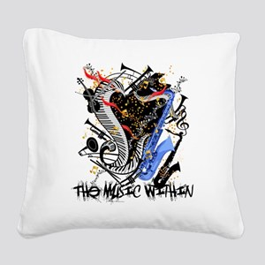 Musical Instruments Band Colo Square Canvas Pillow