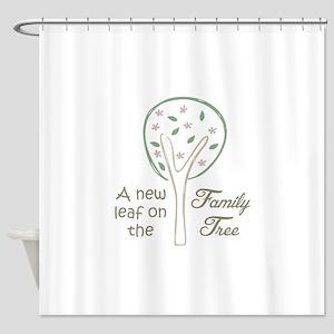 NEW LEAF ON TREE Shower Curtain