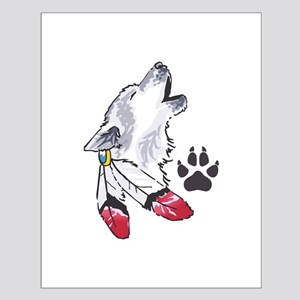 WOLF AND PAW PRINT Posters