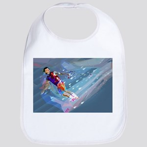 Super Crayon Colored Wakeboarding in the Baby Bib