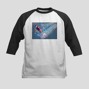 Super Crayon Colored Wakeboarding Baseball Jersey