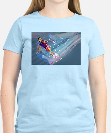 Super Crayon Colored Wakeboarding in the L T-Shirt