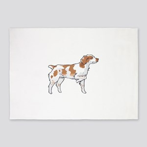 BRITTANY SPANIEL ON POINT 5'x7'Area Rug