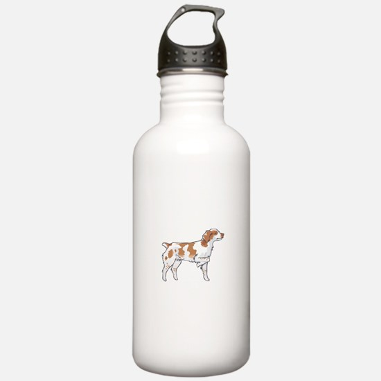 BRITTANY SPANIEL ON POINT Water Bottle