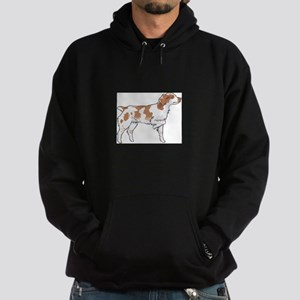 BRITTANY SPANIEL ON POINT Hoodie