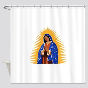 VIRGIN GUADELUPE Shower Curtain