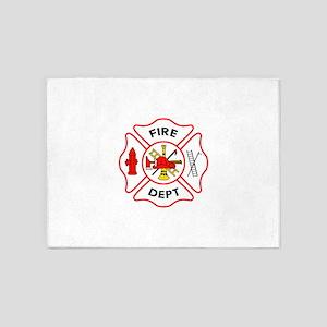 MALTESE CROSS FIRE DEPT 5'x7'Area Rug