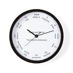 Devil's Dictionary Clock