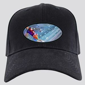 Super Crayon Colored Wakeboar Black Cap with Patch