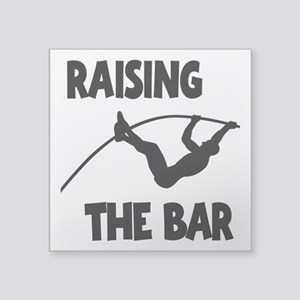 "POLE VAULTING Square Sticker 3"" x 3"""