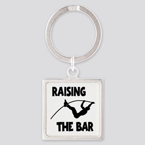 POLE VAULTING Square Keychain