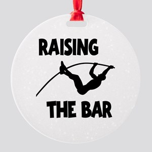 POLE VAULTING Round Ornament