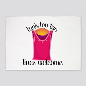 Tank Top Tan Lines Welcome 5'x7'Area Rug