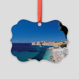 Croatia by the Beach  Picture Ornament
