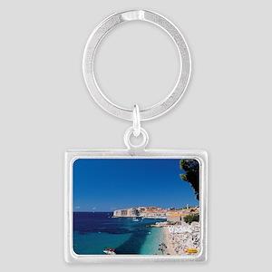 Croatia by the Beach  Landscape Keychain