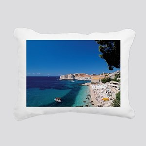 Croatia by the Beach  Rectangular Canvas Pillow
