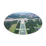 Washington DC Oval Car Magnet