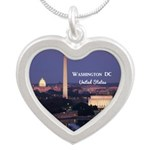 Washington DC Silver Heart Necklace