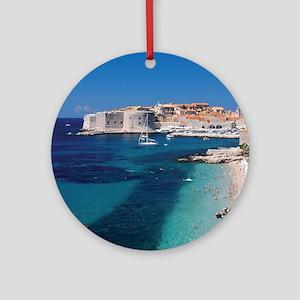 Croatia by the Beach  Round Ornament
