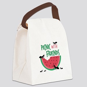Picnic With Friends Canvas Lunch Bag