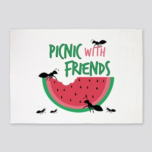 Picnic With Friends 5'x7'Area Rug