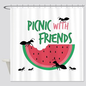 Picnic With Friends Shower Curtain
