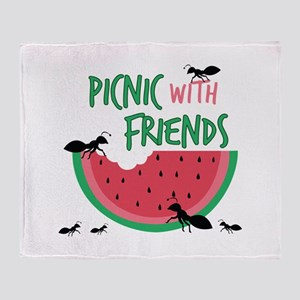 Picnic With Friends Throw Blanket
