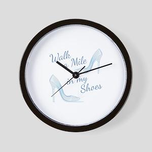Walk A Mile Wall Clock