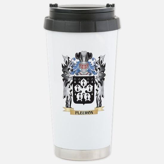 Fleuron Coat of Arms - Stainless Steel Travel Mug