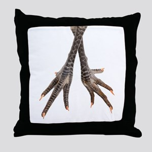 Chicken feet Throw Pillow