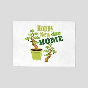 Happy New Home 5'x7'Area Rug