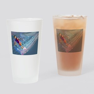Super Crayon Colored Wakeboarding i Drinking Glass