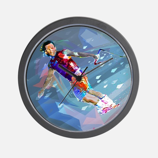 Super Crayon Colored Wakeboarding in th Wall Clock