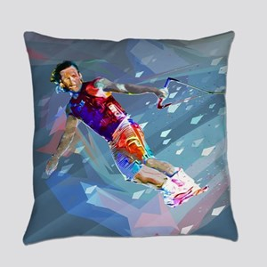 Super Crayon Colored Wakeboarding Everyday Pillow