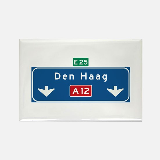 The Hague Roadmarker (NL) Rectangle Magnet