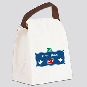 The Hague Roadmarker (NL) Canvas Lunch Bag