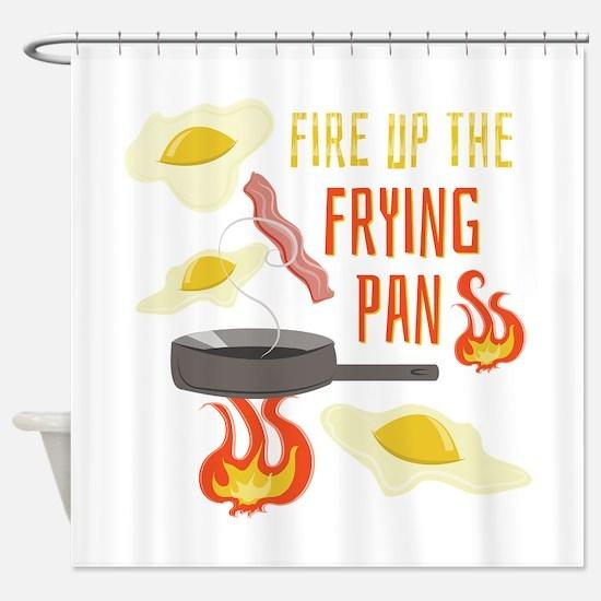 Frying Pan Shower Curtain
