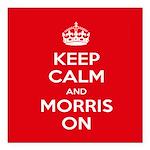 """Morris Dancing Square Car Magnet 3"""" X 3"""""""