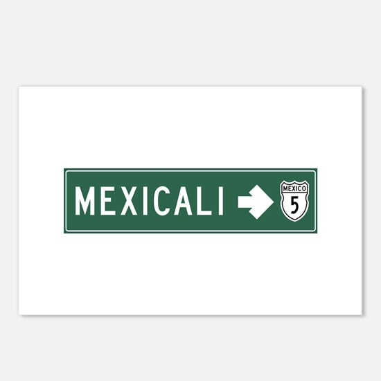 Mexicali Highway Sign (MX Postcards (Package of 8)