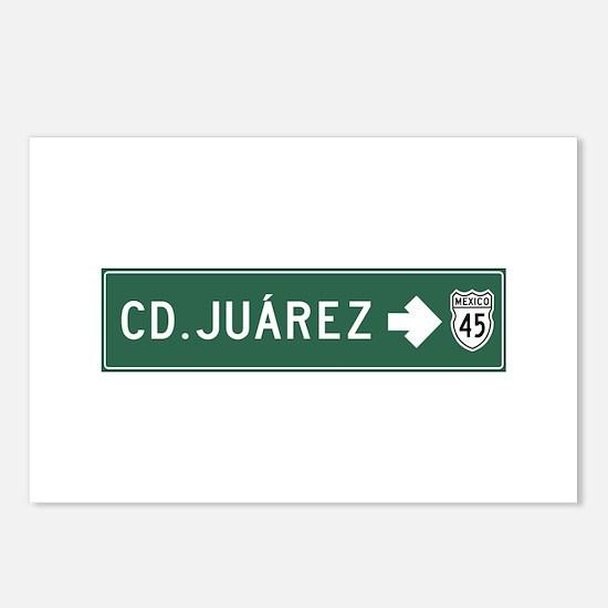Ciudad Juarez Highway Sig Postcards (Package of 8)