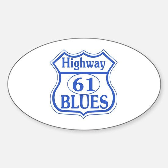 Highway 61 Blues Rectangle Bumper Stickers