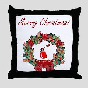 Manicurist Christmas Throw Pillow