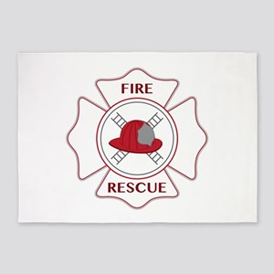 Fire Rescue 5'x7'Area Rug