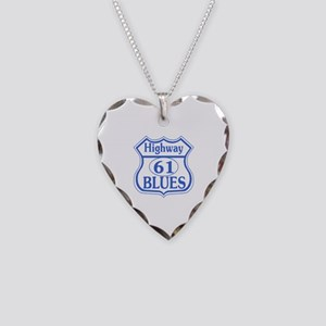 The Blues Highway US 61 Necklace Heart Charm