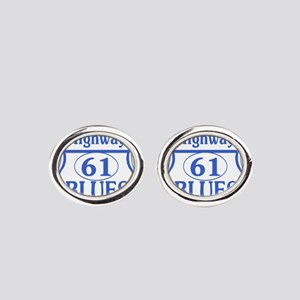 The Blues Highway US 61 Oval Cufflinks