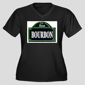 Rue Bourbon Sign Plus Size T-Shirt