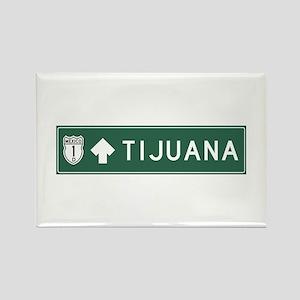 Tijuana Highway Sign (MX) Rectangle Magnet
