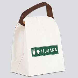 Tijuana Highway Sign (MX) Canvas Lunch Bag