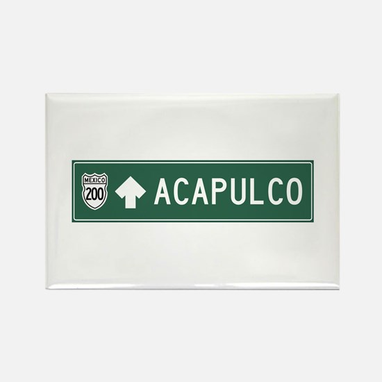 Acapulco Highway Sign (MX) Rectangle Magnet
