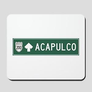 Acapulco Highway Sign (MX) Mousepad